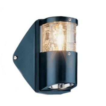 Aqua Signal Masthead Navigation Light with Foredeck Light Black