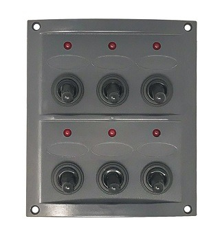 AAA Switch Panel 6 Gang - Splashproof LED