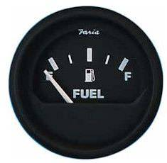 Faria Gauge Fuel Level Euro Black on