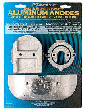 Anode Kit MerCruiser Alpha I Generation II Aluminum Kit ALPHAKITA