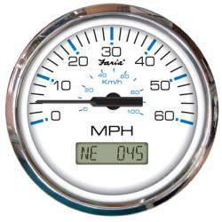 Faria Chesapeake GPS Sdometer 4 Inch - 60mph on