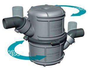 "Vetus WLOCKL45R Plastic Waterlock Muffler 1 3//4/"" Hose Connections"