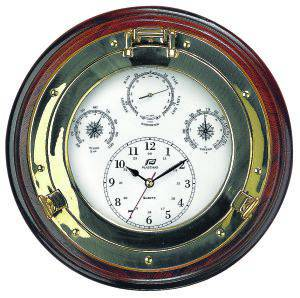 Plastimo Weatherman 4 in 1 Clock with Teak Base