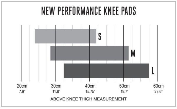 Spinlock Knee Pad Size Chart