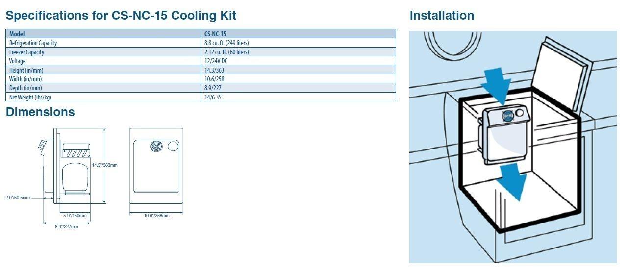 Buy Dometic Coolmatic Cooling Kit Cs Nc 15 In Canada Binnaclecom
