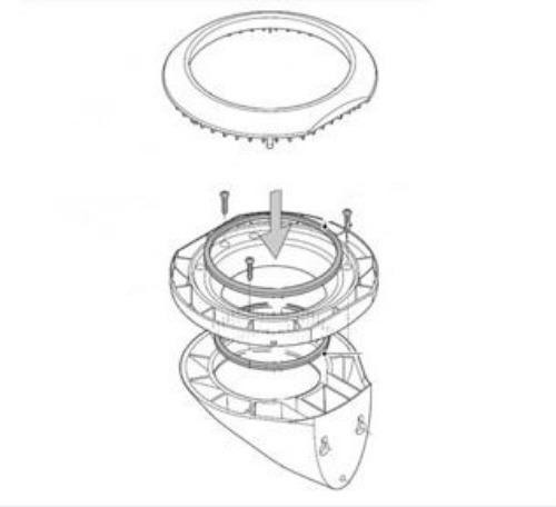 buy raymarine gps  microtalk clamshell riser mounting kit a80437 in canada binnacle com