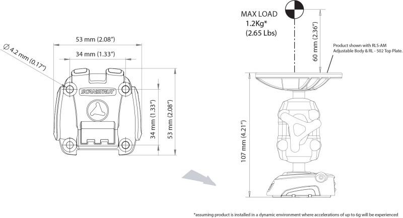 Buy Scanstrut Rokk Mini Screw Down In Canada Binnacle Com