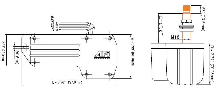 Marinco 1.5 Marine Wiper Motor - 110 Degree 2 In. Shaft 71012 on